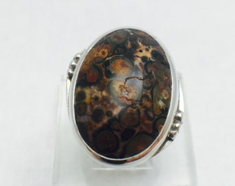 Red Poppy Jasper Sterling Silver Ring on sale for only 110.00 reg 160.00