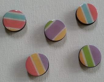 Colorful Stripes Magnet Set
