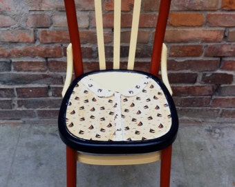 Recovery restored chair seat in cotton fabric