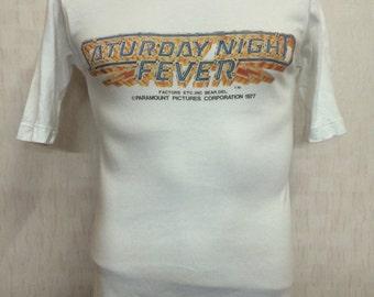 Vintage 70s - 1977 The Saturday Night Fever Movie Film Tshirt