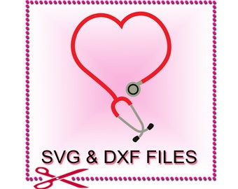 Nurse SVG Files for Cutting Cricut Stethoscope Doctor Designs - SVG Files for Silhouette - Instant Download