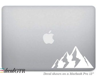 Mountains Decal Sticker for Macbook - Hills Sticker for hiking hiker - Car Decal - Laptop Notebook Removable Vinyl Sticker - G051