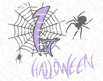 1st halloween svg, Halloween svg - Halloween svg files - spider svg - first halloween svg -  .DXF .SVG, .PNG - commercial use svg