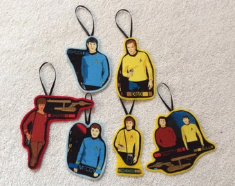 Classic Star Trek Ornaments-Set of Six!