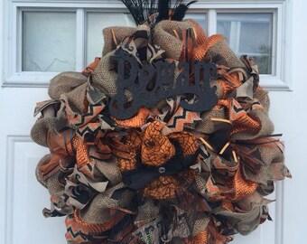Medium Festive Halloween Witch Wreath