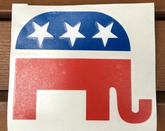 Republican Rlephant Decal Sticker America