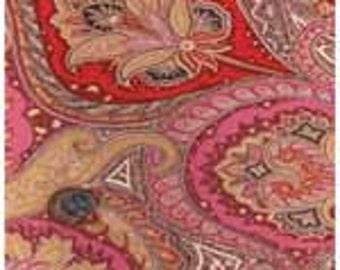 100% Silk Chiffon - Pink Paisley
