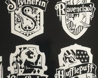 Harry Potter HOGWARTS HOUSE CREST - vinyl decal for computer, car, wherever!