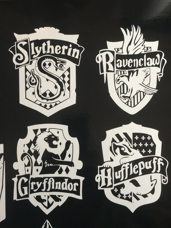 Harry potter hogwarts house crest vinyl decal for computer - Hogwarts decal ...