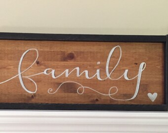 Hand Painted FAMILY Wood Sign