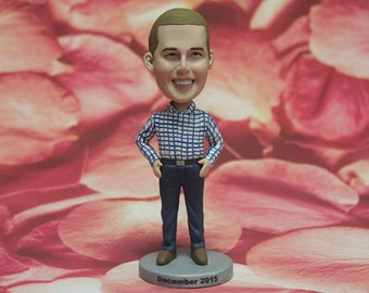 SALE - Custom Figurine Bobblehead dolls - Groomsman Gift - Father of the Bride or Groom Gift - Custom Bobblehead dolls - Wedding Gift