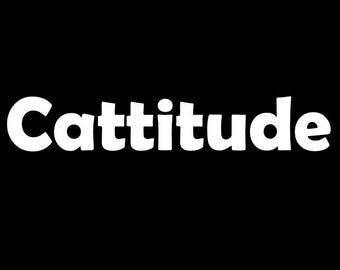 Cattitude Car Decal