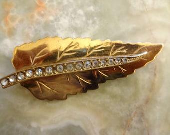 Vintage Leaf Brooch, Gold Leaf, Gold Leaf Brooch, Vintage Leaf Brooch, Gilt Leaf Brooch