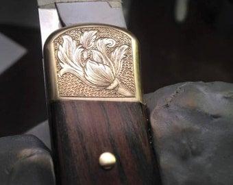 Engraved Buck Knife 110