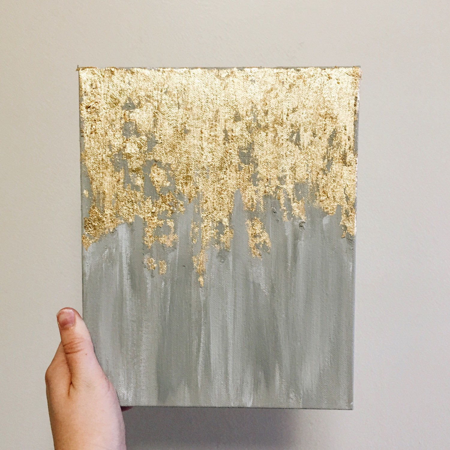 Gold leaf painting abstract gold leaf painting by for Gold paintings on canvas