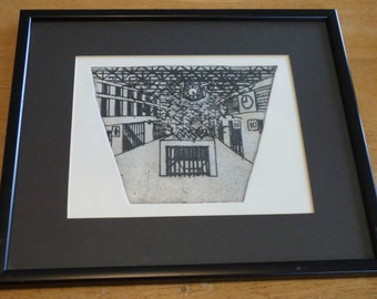 John T Freeman (b. 1958), Etching, 'I London', 'Front Cover'
