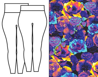 Rose Lucid Dream UV Leggings