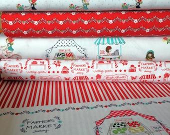 Riley Blake Vintage Market Fabric by Tasha Noel Fabric Bundle (5 x 1/2 metre bundle)