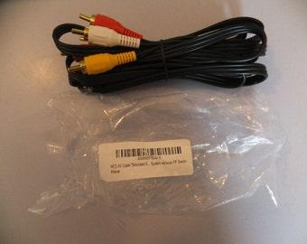 Nintendo NES Gold Plated AV Composite Cables Like New