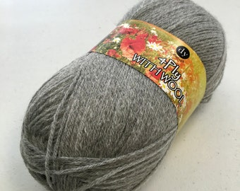 ON SALE, Light Grey, DY Choice with Wool