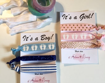 Hair Ties - Elastics - Headband - It's a Baby! - It's a Girl! - It's a Boy! - Baby