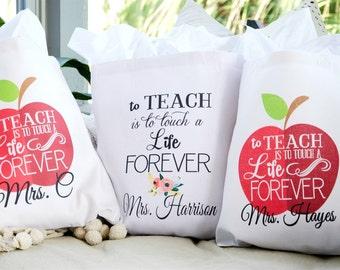 Personalized Teacher Totes - Teacher Gift