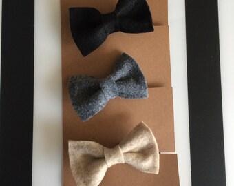 The Mitchell little felt bowtie set