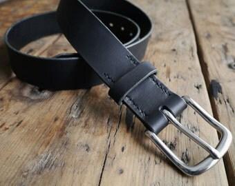 Leather Belt - Mens Leather Belt - Bridle Leather Belt - Bespoke Belt - Handmade in England