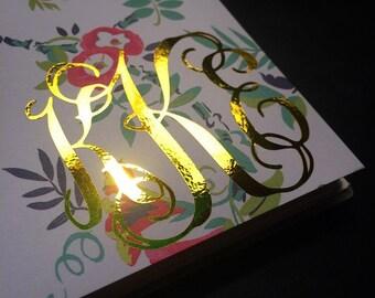 Gold Foil Monogram Decal