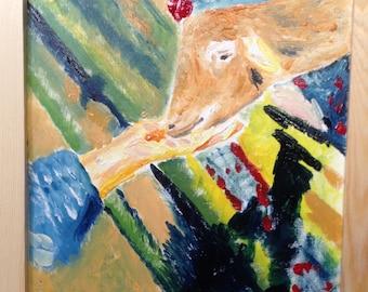 Cow farm in Taiwan-Maoli (oil painting)