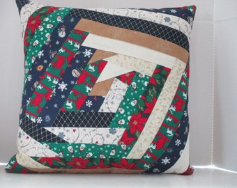 Christmas Pillow Quilted 18 inches square