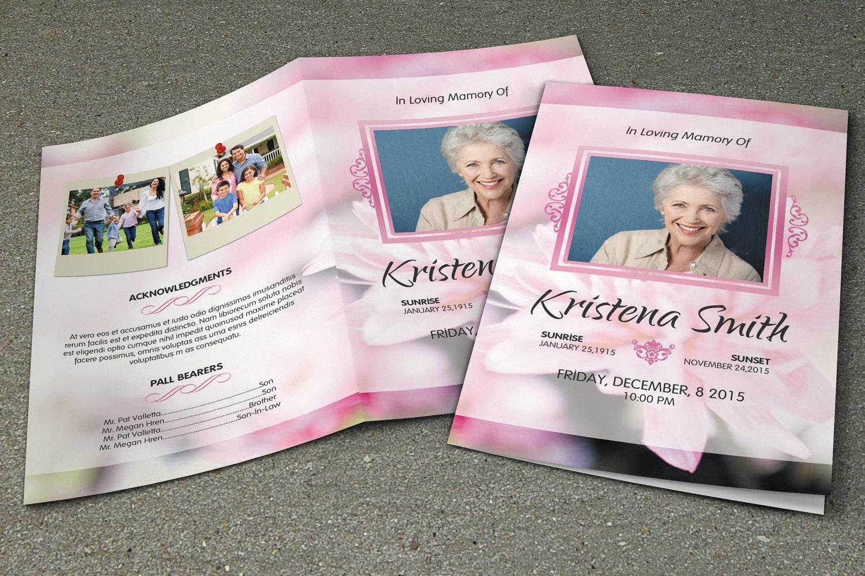 Funeral Program Template Memorial Program Template order of – Memorial Brochure Template