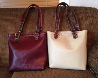 Hand made Leather Tote