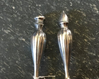Vintage Silver Salt and Pepper Shakers