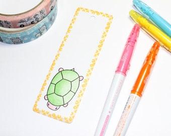 Illustrated bookmark turtle