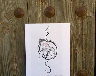 "Art Tattoo Original Sheet  "" Buda """