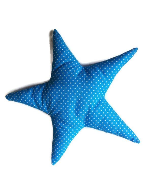 Set of 2 Nursery Star Pillows. Star Pillow. Nursery Pillow Set, Stuffed stars. Children toys. Fabric toys. Fabric stars.