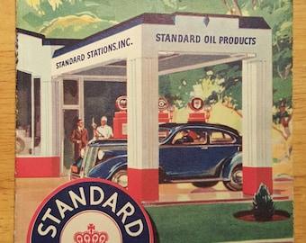 1940 Idaho gas station map