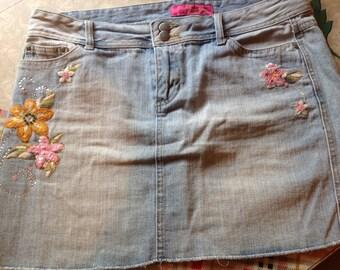 Thalia Sodi Jean skirt