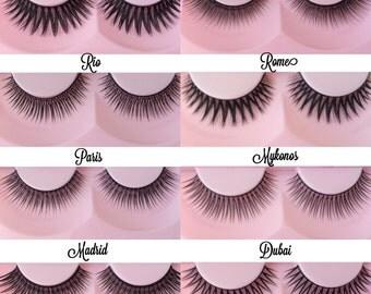 Eyelashes, any 3 models.