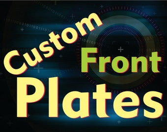 Front Custom Plates For Fantasy Trophies