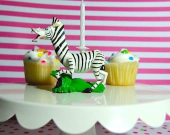 Marty the Zebra Birthday Candle Holder