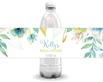 Bridal Shower Water Bottle Labels, Wedding Bottle Labels, Water Bottle Label, Bachelorette Party Labels, Printable Labels, Personalized