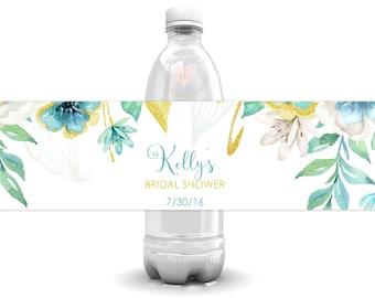 Bridal Shower Water Bottle Labels, Wedding Bottle Labels, Water Bottle Label, Bachelorette Party Labels, Printable Labels, Personalized