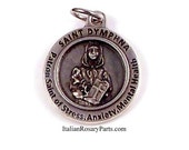 St Dymphna Medal Patron Saint of Stress, Anxiety and Mental Health | Italian Rosary Parts
