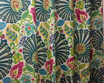 Richloom bankura moroccan drapes (two 50W x 84L panels) rod pocket, cotton curtain panels