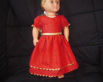 Holiday doll dress | Etsy