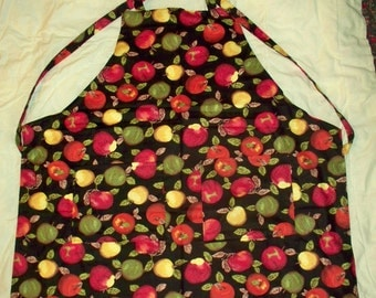 adult size chefs apron with apple print