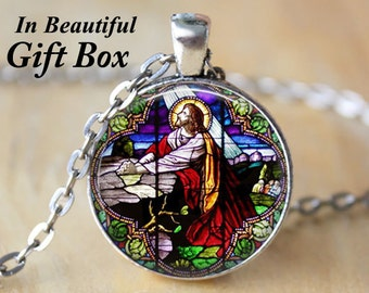 Jesus Christ Praying • Jesus Christ Jewelry • Christian Jewelry • Christian Gifts • Religious Gift • Christian Necklace • Jesus Jewelry