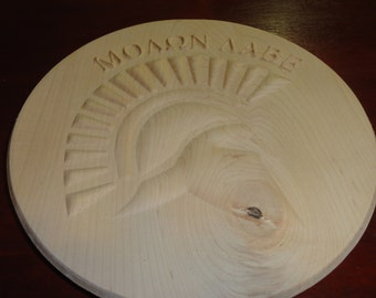 Molon Labe, Come and Take it 11-12in 3D Plaque